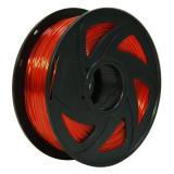 3D Transparent Red PETG Filament 1.75 mm, 2.2 LBS (1KG)