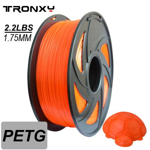 3D Transparent Orange PETG Filament 1.75 mm, 2.2 LBS (1KG)