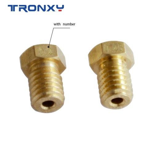 5pcs/lot V5 V6 Nozzle Copper M6 Threaded Brass