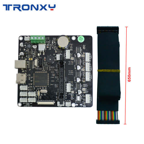 Tronxy Upgrade Silent Mainboard with Wire Cable for X5SA  X5SA-400 XY-2 Pro 3D Printer Original Supply impresora 3d Motherboard