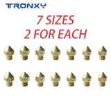 7 pcs MK8 M6 Brass Copper Nozzle J-head Extrusion