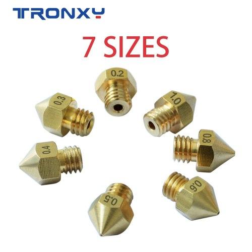 7 pcs MK8 M6 Brass Copper Nozzle J-head Extrusion