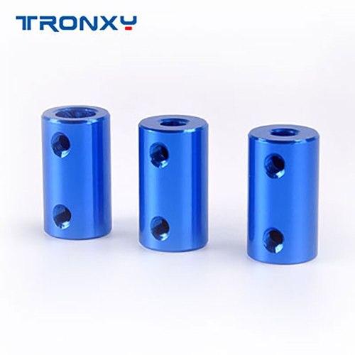 Blue Aluminum Alloy Coupler Motor Flexible Coupling 5*8*25mm