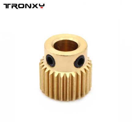 tronxy 3D printer part Copper Gear Extruder Feed filament Drive 26 Teeth wheel feeding Gear With Screws for 11mm*11mm (5 pieces)