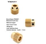 Copper Gear Feed filament Drive 26 Teeth wheel 11*11mm (5pcs)