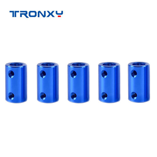 Tronxy 3D printer parts Blue Aluminum Alloy Coupler Motor Flexible Coupling diameter 5*8mm length 25mm impresora 3d Accessories