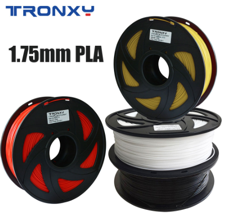3D PLA filament Red, Black, White, Yellow