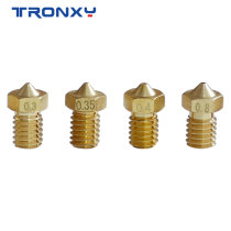 5pcs/lot V5 V6 Nozzle Copper M6 Threaded Brass