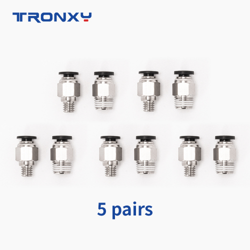 Pneumatic connector--m6 and m10 (5 Pairs)