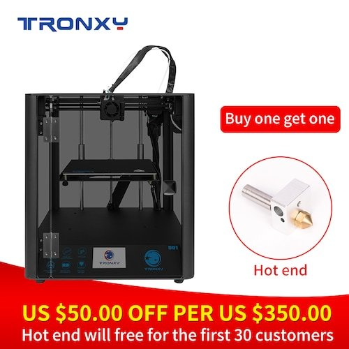TRONXY D01 3D Printer 220*220*220mm (Buy one get one hotend for gift) Limit before 30