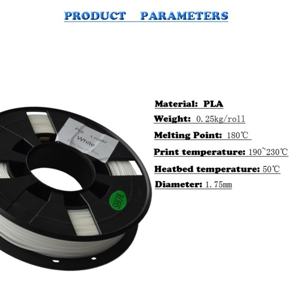 TRONXY 3D Printer filament 0.25kg/roll PLA 1.75mm
