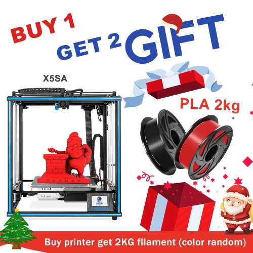 TRONXY X5SA 24V 3D Printer 330*330*400mm + PLA 2KG Filament Gift