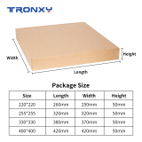 Glass Plate 220*220/255*255/310*310/330*330/400*400mm Heat bed Lattice Glass