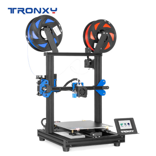 TRONXY 3D Printer XY-2 Pro-2E 255*255*245mm I3 FDM-Dual Color 3D Printer 2-IN-1-OUT 3D Printer DIY Kit