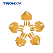 Tronxy MK8 Copper Nozzle with Extruder nozzle size 0.2mm 0.3mm 0.4mm(5pcs)