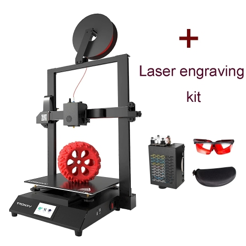 Tronxy XY-3 Pro V2 Direct Drive 3D Printer 300*300*400mm + Nozzle/PLA Filament/Magnetic Sticker with Steel Plate/Laser Engraving Module (Combined offers)