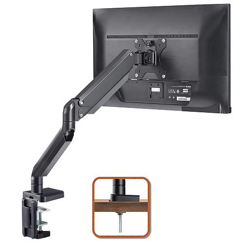 "(EU EXCLUSIVE)PUTORSEN® PC Monitor Arm - Aluminum Ergonomic Height-Assisted Full Motion Heavy Duty Single Arm Desktop Clamp Mount for 17–32"" Screens Adjustable Tilt Swivel VESA 75 to 100mm Weight up to 8kg"