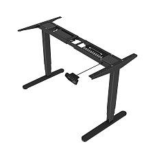 (EU EXCLUSIVE)PUTORSEN® ES23B Height Adjustable Electric Standing Desk Frame Three-Stage with Anti-collision System, Dual Motor Heavy Duty Steel Stand up Desk with Automatic Memory Smart Keyboard (Frame Only-Black)