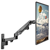 (EU EXCLUSIVE)PUTORSEN® 17-27  Monitor Wall Mount TV Wall Bracket with Adjustable Gas Spring Full Motion LED LCD Moniter Arm (Black)