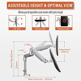 """(EU EXCLUSIVE)PUTORSEN® PC Dual Monitor Arm - Aluminum Ergonomic Height-Assisted Full Motion Heavy Duty Double Arm Desktop Clamp Mount for 17–32"""" Screens VESA 75 to 100mm Weight up to 9kg (USB3.0 & Audio Ports)"""