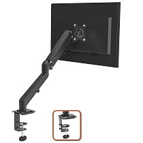 (EU EXCLUSIVE)PUTORSEN® Monitor Tischhalterung - Premium Stahl Ergonomische Schwenkbare Neigbare Höhenverstellbar Einarm Monitorhalterung für 17 -27  LED LCD Bildschirme - VESA 75x75-100x100 mm Wiegt 6,5kg