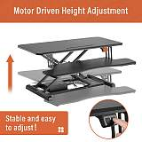 (EU EXCLUSIVE)PUTORSEN® Electric Standing Desk Height Adjustable Sit Stand Desk Converter Stand Up Desk Riser Ergonomic Standing up Workstation with Keyboard Tray, 32  Wide Platform - Compatible with Monitor Arm