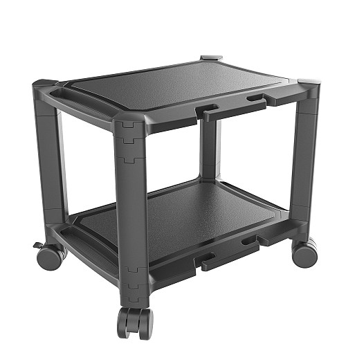 (EU EXCLUSIVE)PUTORSEN® Under Desk Printer Stand with Wheels, Rolling Printer Cart, Height Adjustable Stacked Office Machine Cart with Tablet & Phone Holder, Cable Management Slot, Up to 20KG