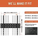 (EU EXCLUSIVE)PUTORSEN® TV Wall Bracket for 32-55 inch Flat&Curved TV or Monitor up to 40 KG, Ultra Slim, Max VESA 400X400mm