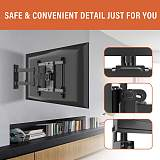 (EU EXCLUSIVE)PUTORSEN® TV Wall Bracket Swivels Tilts Extends, Full Motion TV Wall Mount for Most 32-70 Inch Flat&Curved TVs, Holds up to 50kg, VESA 400x400mm