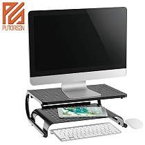 (EU EXCLUSIVE)PUTORSEN® Monitor Stand Riser with Vented Metal for Computer, Laptop, Desk, Printer with 37 x 28cm Platform 14.4cm Inch Height