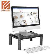 (EU EXCLUSIVE)PUTORSEN® Adjustable Monitor Stand Riser for Computer, iMac, PC, Printer, Laptop with Tablet & Phone Holder, Cable Management Slot, up to 10KG