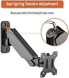 (EU EXCLUSIVE)PUTORSEN® 17-32  Monitor Wall Mount TV Wall Bracket with Adjustable Gas Spring Full Motion LED LCD Moniter Arm (Black)