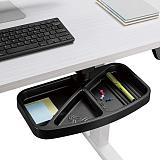 (EU EXCLUSIVE)PUTORSEN® Under Desk Swivel Storage Drawer Tray, Ergonomic Undermount Shelf Organizer Holds Pens, Pencils, Paper and Other Office Supplies