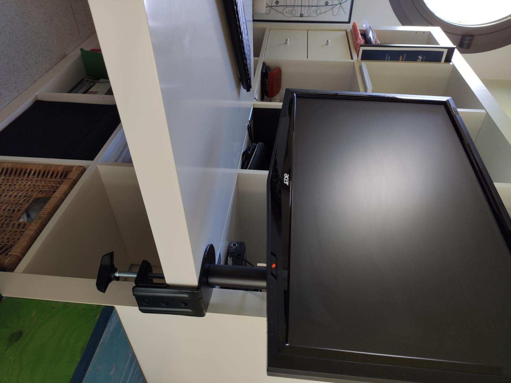 Canalina Per Fili Tv 147.99 - putorsen® pc dual monitor arm-heavy duty aluminum