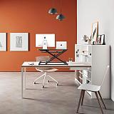 PUTORSEN Standing Desk Converter – 32 inch Height Adjustable Stand Up Desk, Ergonomic Sit Stand Dual Monitor and Laptop Riser Workstation Black