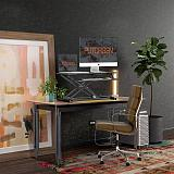 (US EXCLUSIVE)PUTORSEN Standing Desk Converter – 32 inch Height Adjustable Stand Up Desk, Ergonomic Sit Stand Dual Monitor and Laptop Riser Workstation Black