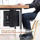 (EU EXCLUSIVE) PUTORSEN® Adjustable Under Desk Computer Mount Wall PC Mount Computer Case Holder with 360-degree Swivel