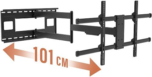 ( EU EXCLUSIVE)PUTORSEN® Long Arm TV Wall Bracket Mount with 40-inch Extension, Full Motion TV Wall Mount Fits Most 43-80 inch Flat&Curved LED Screens, Swivel Tilt Arm with Max VESA 800x400mm, Holds up to 110lbs