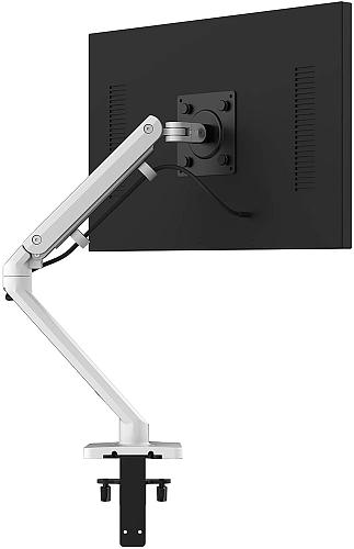 "(EU EXCLUSIVE)  PUTORSEN® Single Monitor Arm - Heavy Duty Aluminum Ergonomic Height-Assisted Full Motion Single Arm Desktop Clamp Mount for 17–32"" Screens Adjustable Tilt Swivel VESA 75 to 100mm Weight up to 9.5kg"