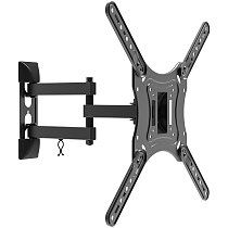 (EU EXCLUSIVE)PUTORSEN® TV Wall Bracket Mount Swivel and Tilt for most 23-55 Inch LED, LCD and OLED Flat Screen TVs up to VESA 400x400mm and 30 KG, Full Motion TV bracket with Strong Articulating Arm