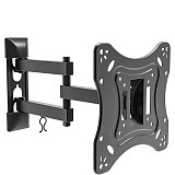 (EU EXCLUSIVE)PUTORSEN® TV/Monitor Wall Bracket Mount Swivel and Tilt for Most 13''-42'' LED, LCD, OLED Flat Screen TVs and Monitors with VESA 75x75-200x200mm up to 20 KG, Full Motion Monitor Wall Bracket