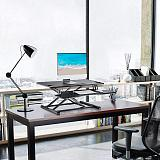 (EU EXCLUSIVE)PUTORSEN® Standing Desk Height Adjustable Sit Stand Desk Converter Stand Up Desk Riser Ergonomic Standing up Workstation with Keyboard Tray, 37.4  Wide Platform - Compatible with Monitor Arm
