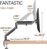 "(EU EXCLUSIVE)PUTORSEN® PC Monitor Arm - Epic Aluminum Ergonomic Gas-Assisted Full Motion Single Arm Desktop Clamp Mount for 17–32"" Screens Adjustable Tilt Swivel VESA 75 to 100mm Weight up to 9 kg"