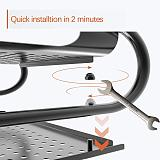 PUTORSEN® Monitor Stand Riser with Vented Metal for Computer, Laptop, Desk, Printer with 37 x 28cm Platform 14.4cm Inch Height