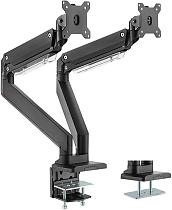 "(EU EXCLUSIVE)PUTORSEN® PC Dual Monitor Arm-Heavy Duty Aluminum Ergonomic Gas-Assisted Full Motion Double Arm Desktop Clamp Mount for 17–35"" Screens Adjustable Tilt Swivel VESA 75 to 100mm Weight up to 15kg per Arm"