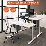 (EU EXCLUSIVE)PUTORSEN® ES12W Height Adjustable Electric Standing Desk Frame Two-Stage Heavy Duty Steel Stand up Desk with Automatic Memory Smart Keyboard (Frame Only-White)