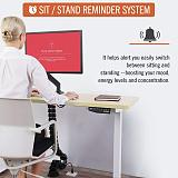 (EU EXCLUSIVE)PUTORSEN® ES23W Height Adjustable Electric Standing Desk Frame Three-Stage with Anti-collision System, Dual Motor Heavy Duty Steel Stand up Desk with Automatic Memory Smart Keyboard (Frame Only-White)
