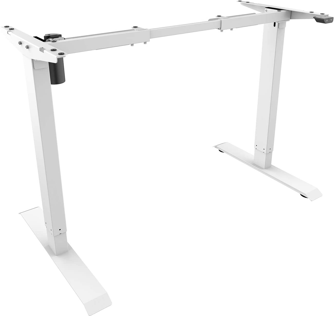 (EU EXCLUSIVE) PUTORSEN® ES12W-E Electric Standing Desk Ergonomic Height Adjustable Sit Stand Desk Frame Two-Stage Heavy Duty Steel Stand up Desk with Up Down Keyboard (Frame Only - White)