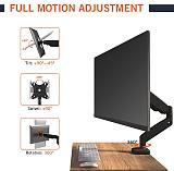 (EU EXCLUSIVE) PUTORSEN PC Monitor Arm – Ergonomic Height Adjustable Single Gas Spring Arm Desktop Clamp Mount for 13–32 inch Screens Adjustable Tilt Swivel VESA 75/100mm Weight 2kg to 8kg,PTMA-091
