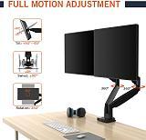 "(EU EXCLUSIVE) PUTORSEN Dual Monitor Arm for 13–35"" Curved Screens- Height Adjustable Double Monitor Arm Desktop Clamp Mount,  360° Rotatable Monitor Mount,135° Tilt, 180°Swivel,  VESA :75 x 100mm,Weight max 14kg"